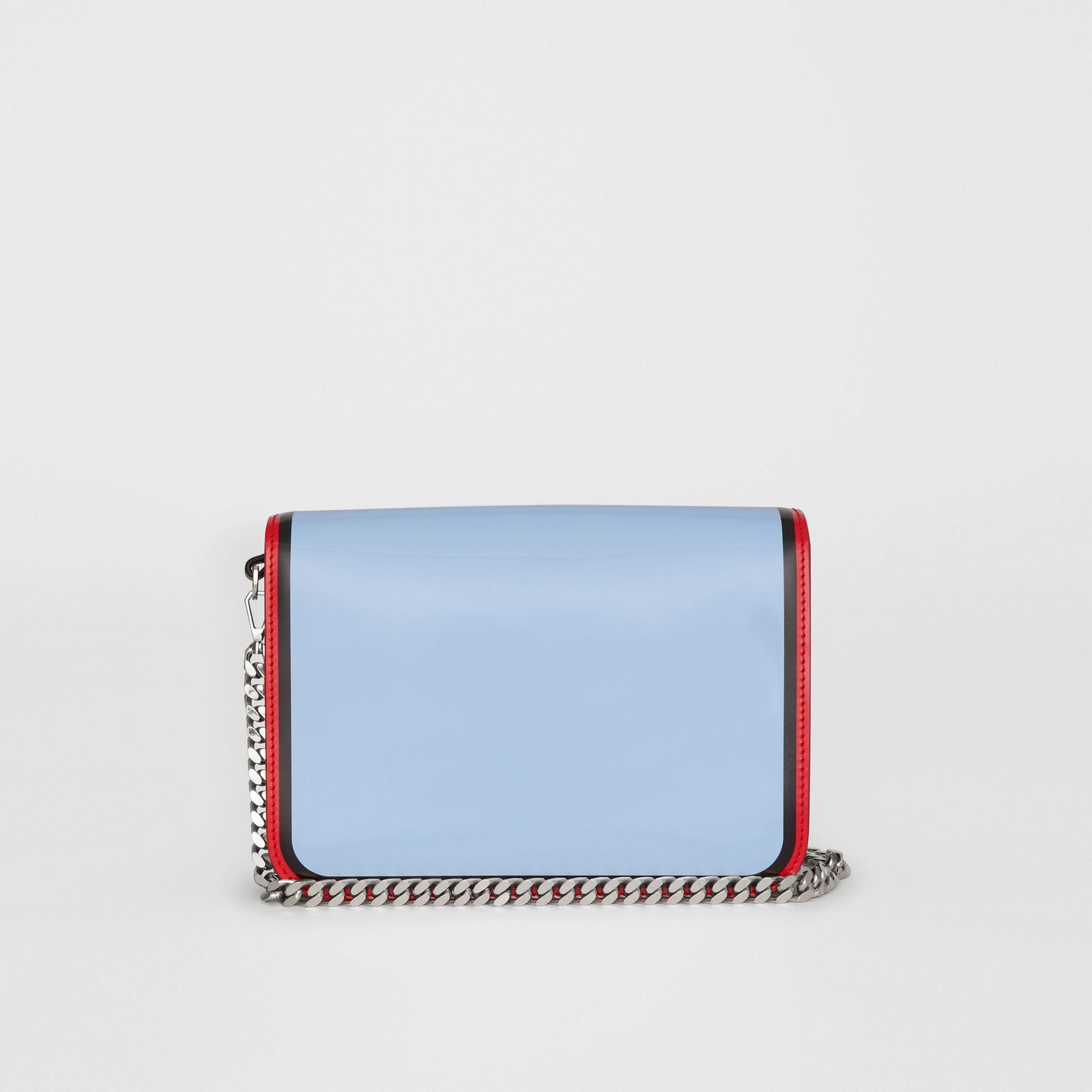 Small Painted Edge Leather TB Bag in Pale Blue - Women | Burberry - gallery image 7