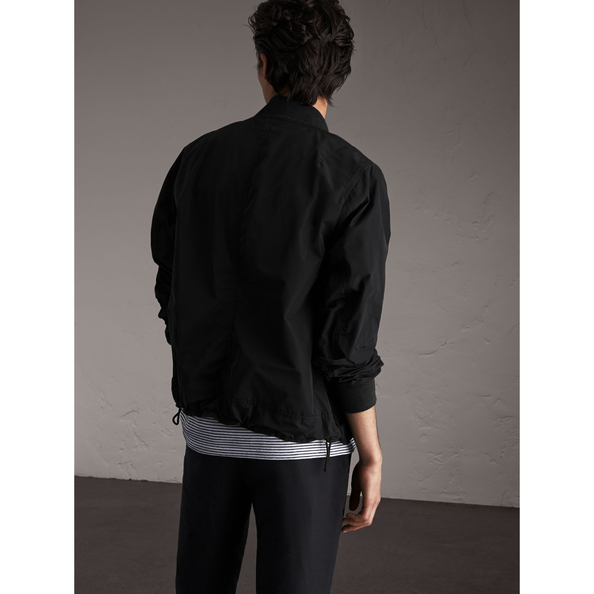 Shape-memory Taffeta Bomber Jacket in Black - Men | Burberry - gallery image 3