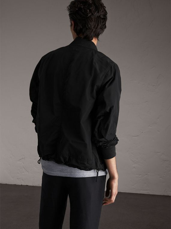 Shape-memory Taffeta Bomber Jacket in Black - Men | Burberry - cell image 2