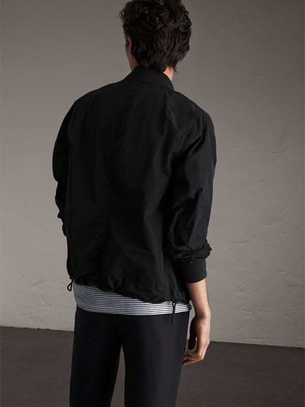Shape-memory Taffeta Bomber Jacket in Black - Men | Burberry United Kingdom - cell image 2