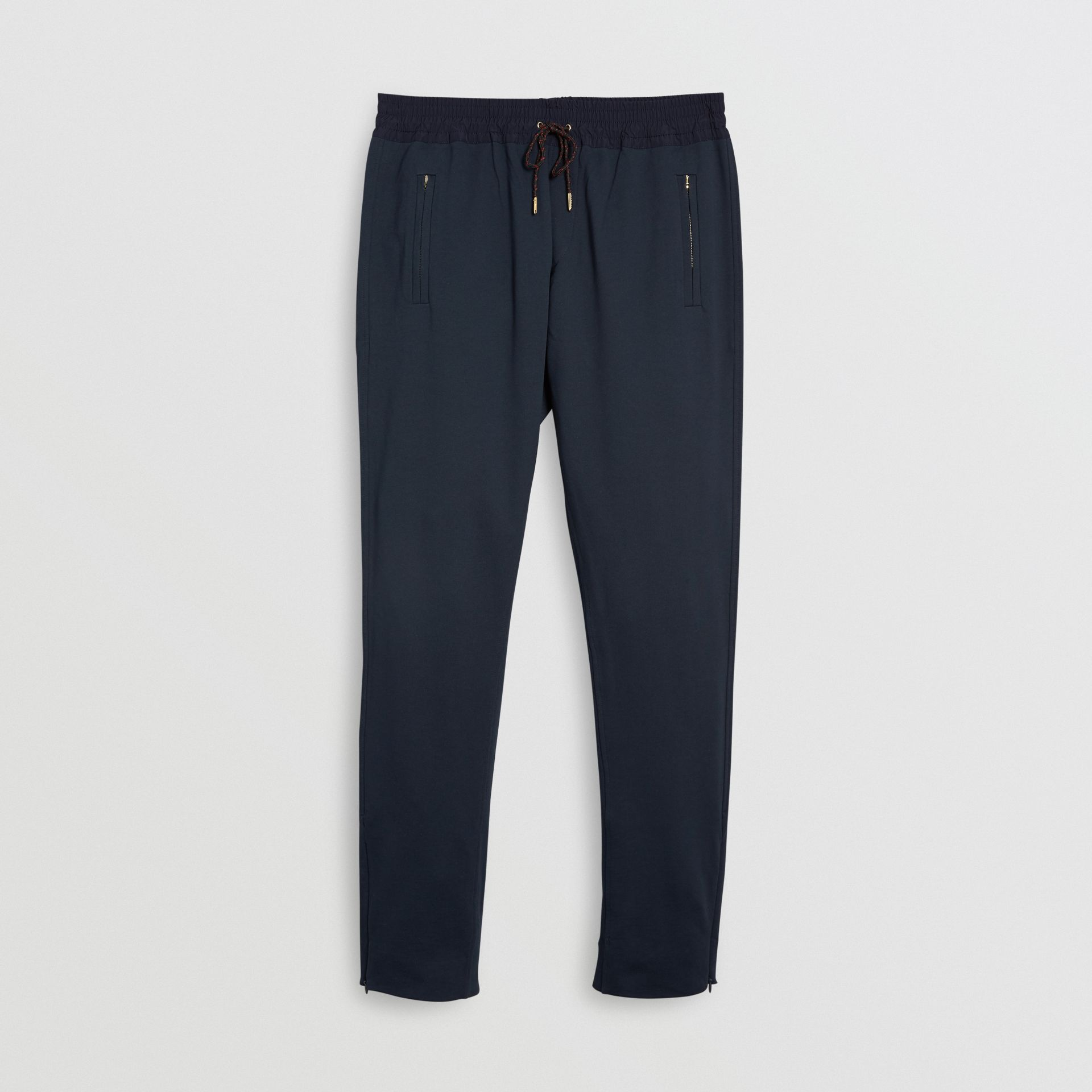 Cotton Sweatpants in Navy - Men | Burberry United Kingdom - gallery image 3
