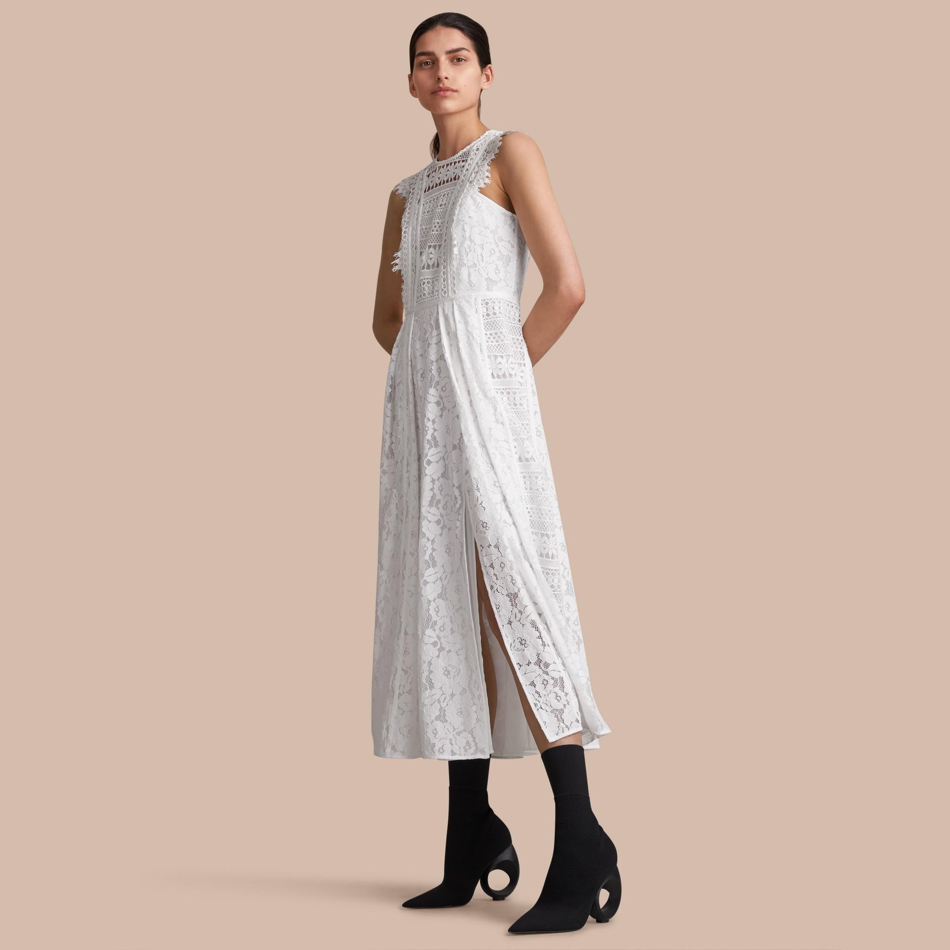 Sleeveless Macramé Lace Dress - gallery image 1