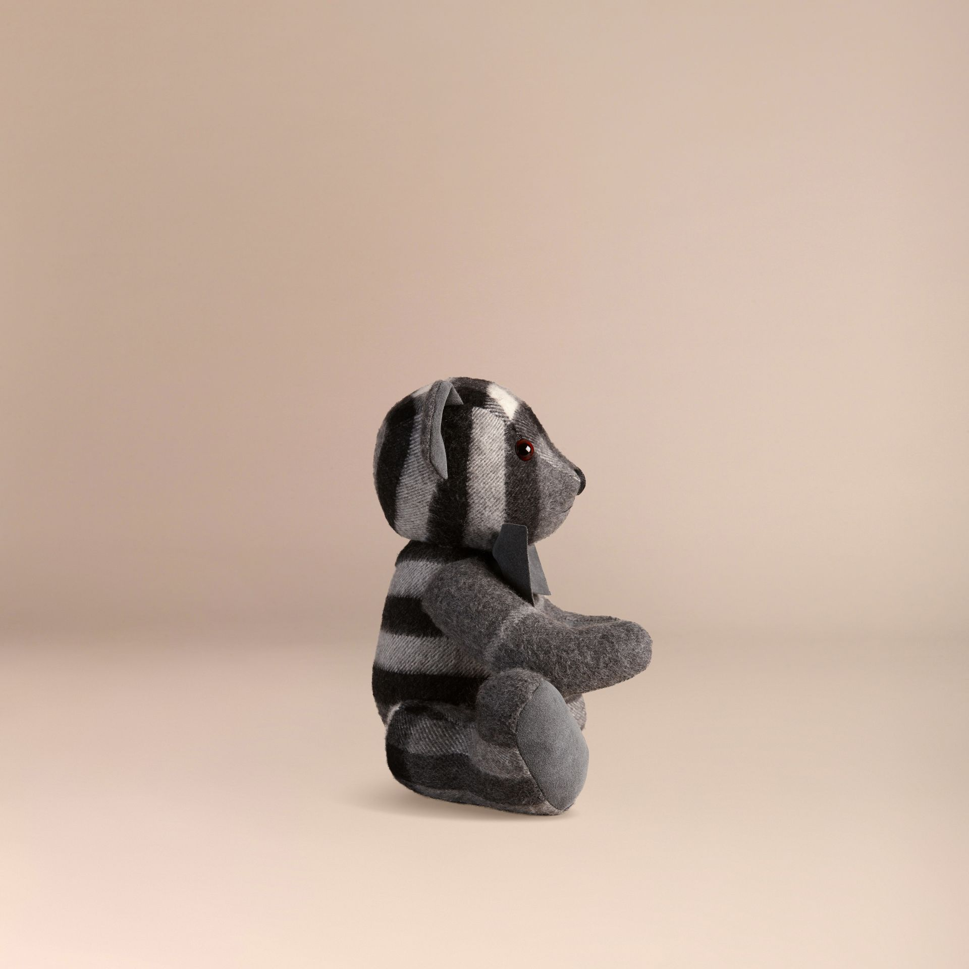 Mid grey Thomas Bear in Check Cashmere Mid Grey - gallery image 3