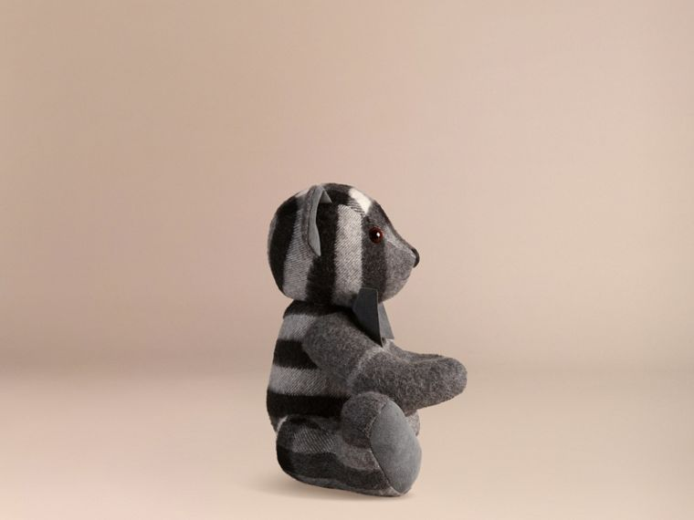 Mid grey Thomas Bear in Check Cashmere Mid Grey - cell image 2