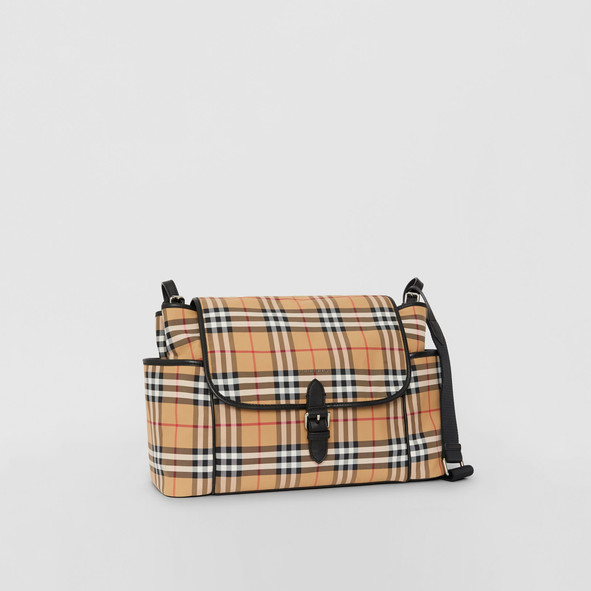 Vintage Check Baby Changing Shoulder Bag in Antique Yellow/black - Children | Burberry United Kingdom - gallery image 4