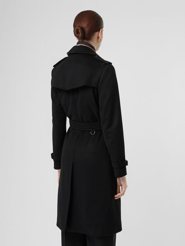 Cashmere Trench Coat in Black - Women | Burberry United Kingdom - cell image 2
