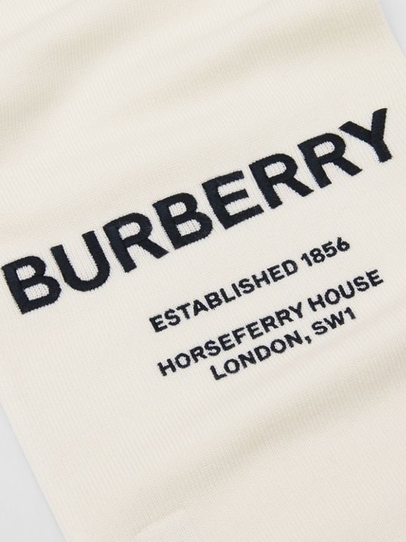 Embroidered Merino Wool Two-piece Gift Set in Ivory - Children | Burberry - cell image 1