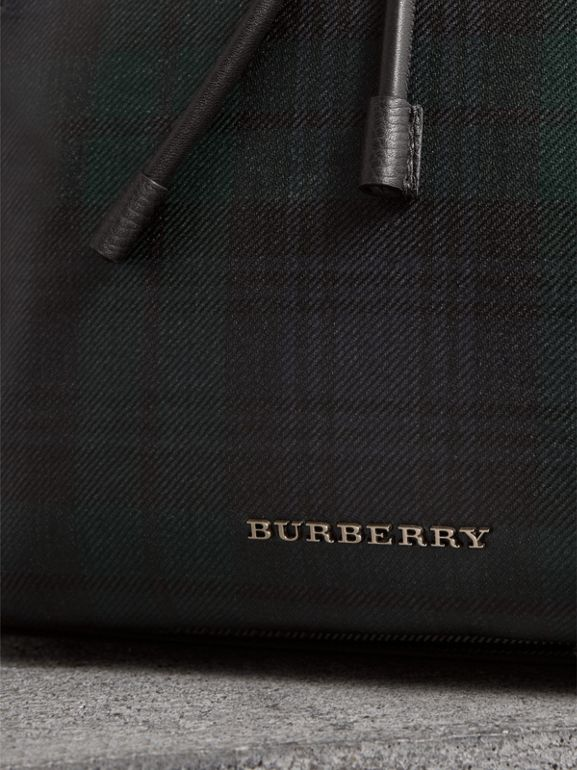 The Large Rucksack in Laminated Tartan in Black/white - Men | Burberry - cell image 1