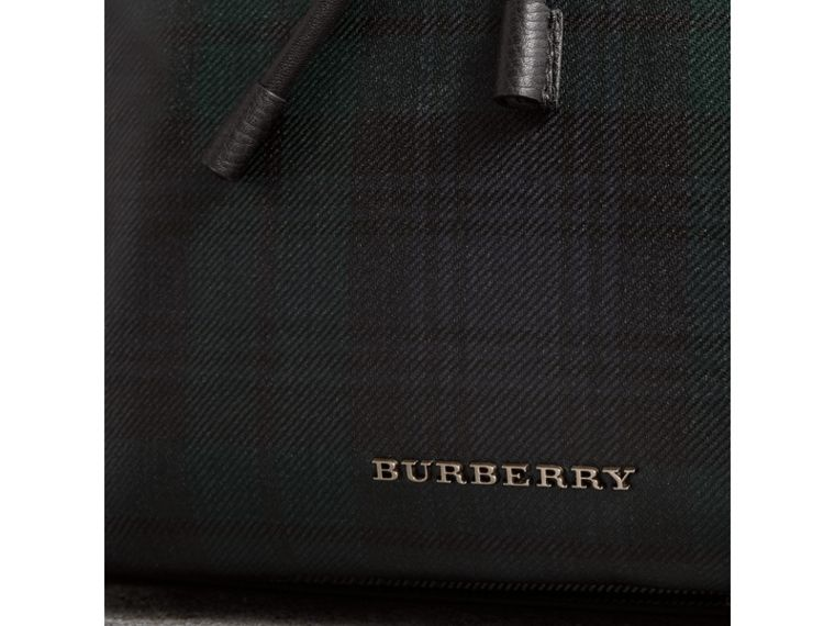 The Large Rucksack in Laminated Tartan in Black/white - Men | Burberry Singapore - cell image 1