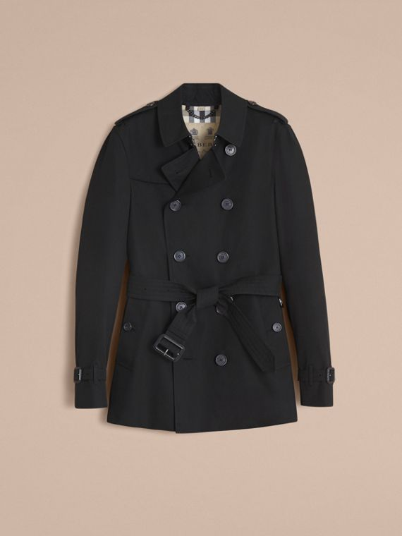 The Chelsea – Short Heritage Trench Coat in Black - Men | Burberry - cell image 3