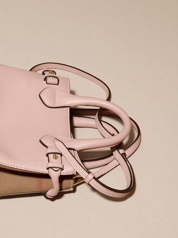 The Baby Banner in Leather and House Check in Pale Orchid - Women | Burberry - cell image 3