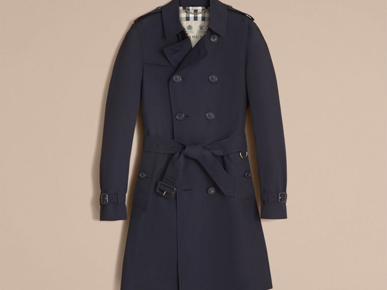 Navy The Chelsea – Long Heritage Trench Coat Navy - cell image 4