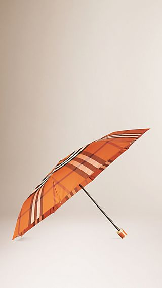 Parapluie télescopique à motif check