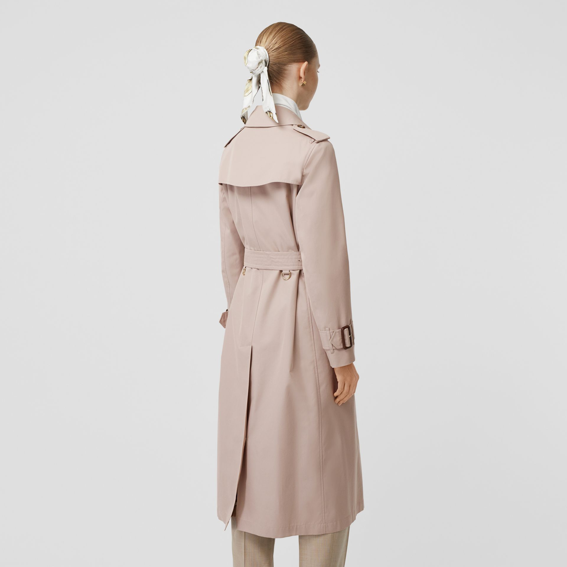 Cotton Gabardine Trench Coat in Pale Blush - Women | Burberry - gallery image 2
