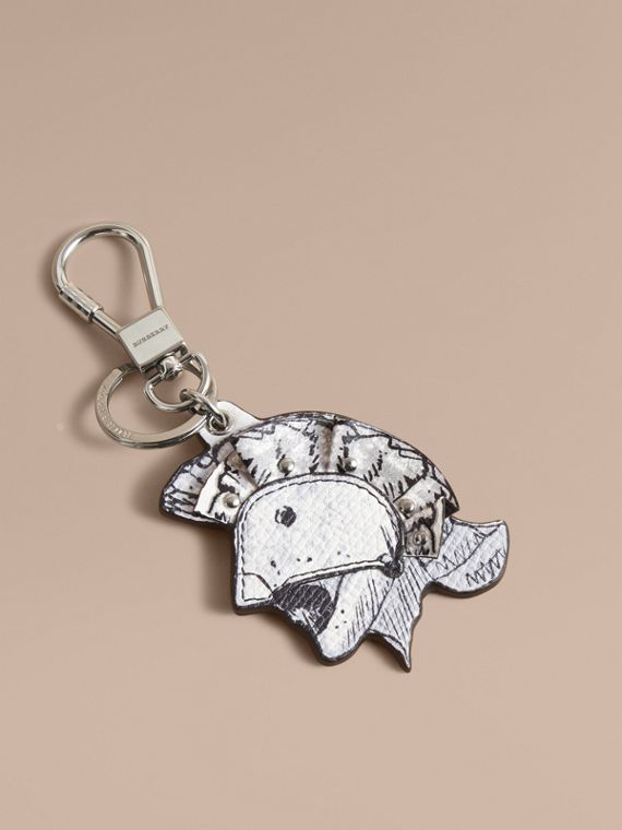 Pallas Helmet Motif Leather Key Ring