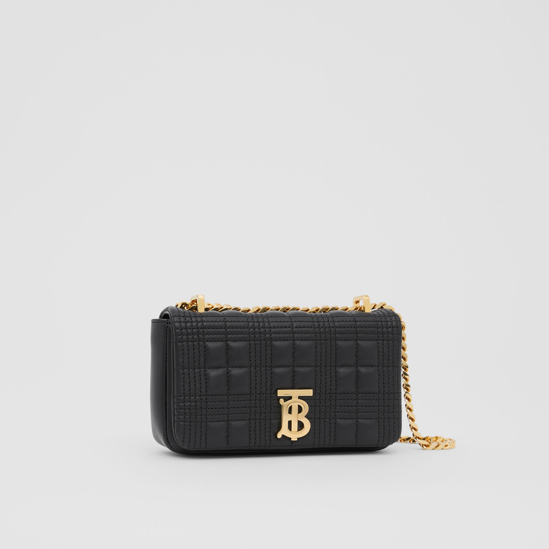 Mini Quilted Lambskin Lola Bag in Black - Women | Burberry - gallery image 4
