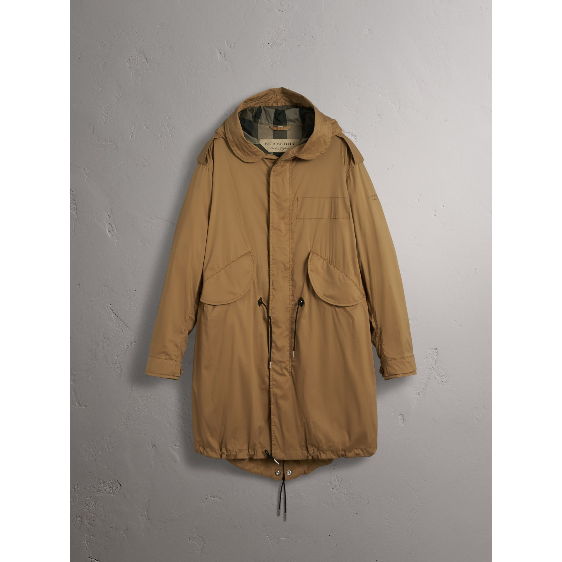 Cotton Blend Twill Parka - Men | Burberry - gallery image 4