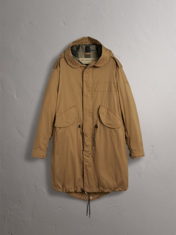 Cotton Blend Twill Parka - Men | Burberry - cell image 3
