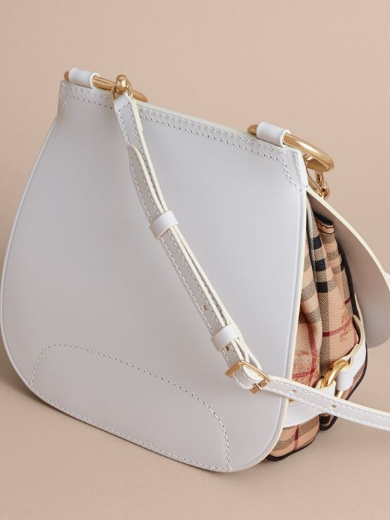 The Bridle Bag aus Leder und Haymarket Check-Gewebe (Naturfarben) - Damen | Burberry - cell image 3