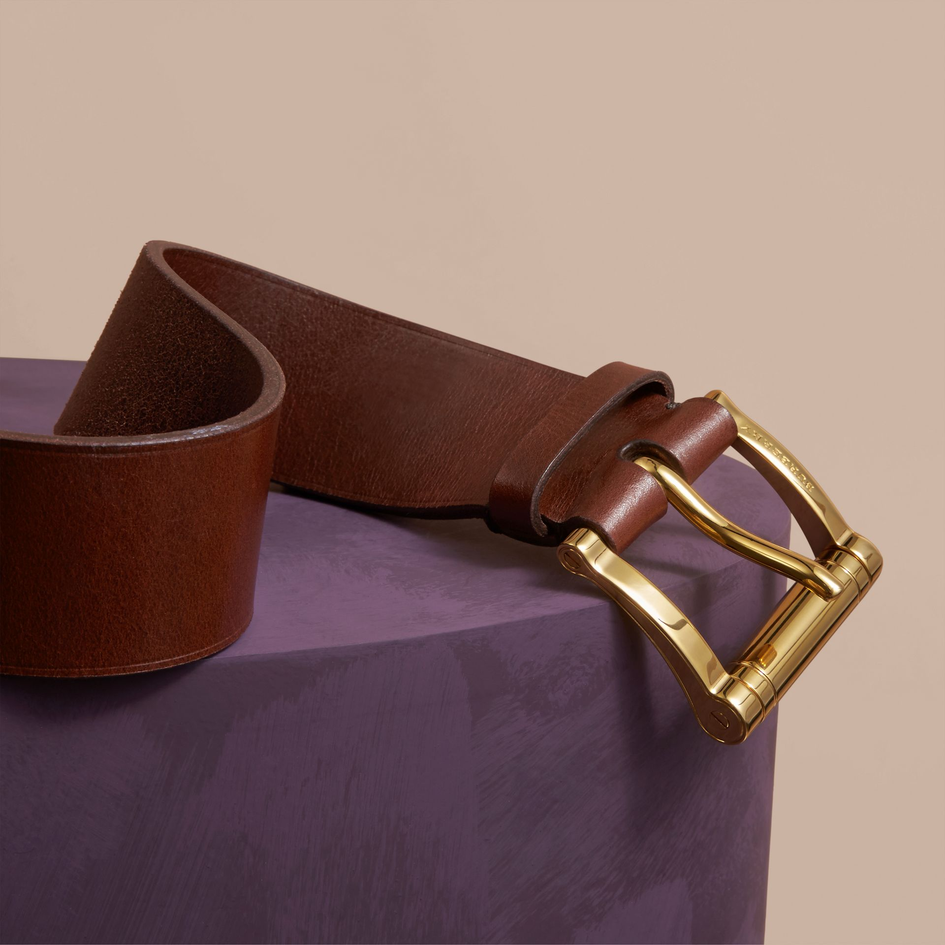 Tan Bridle Leather Belt Tan - gallery image 2
