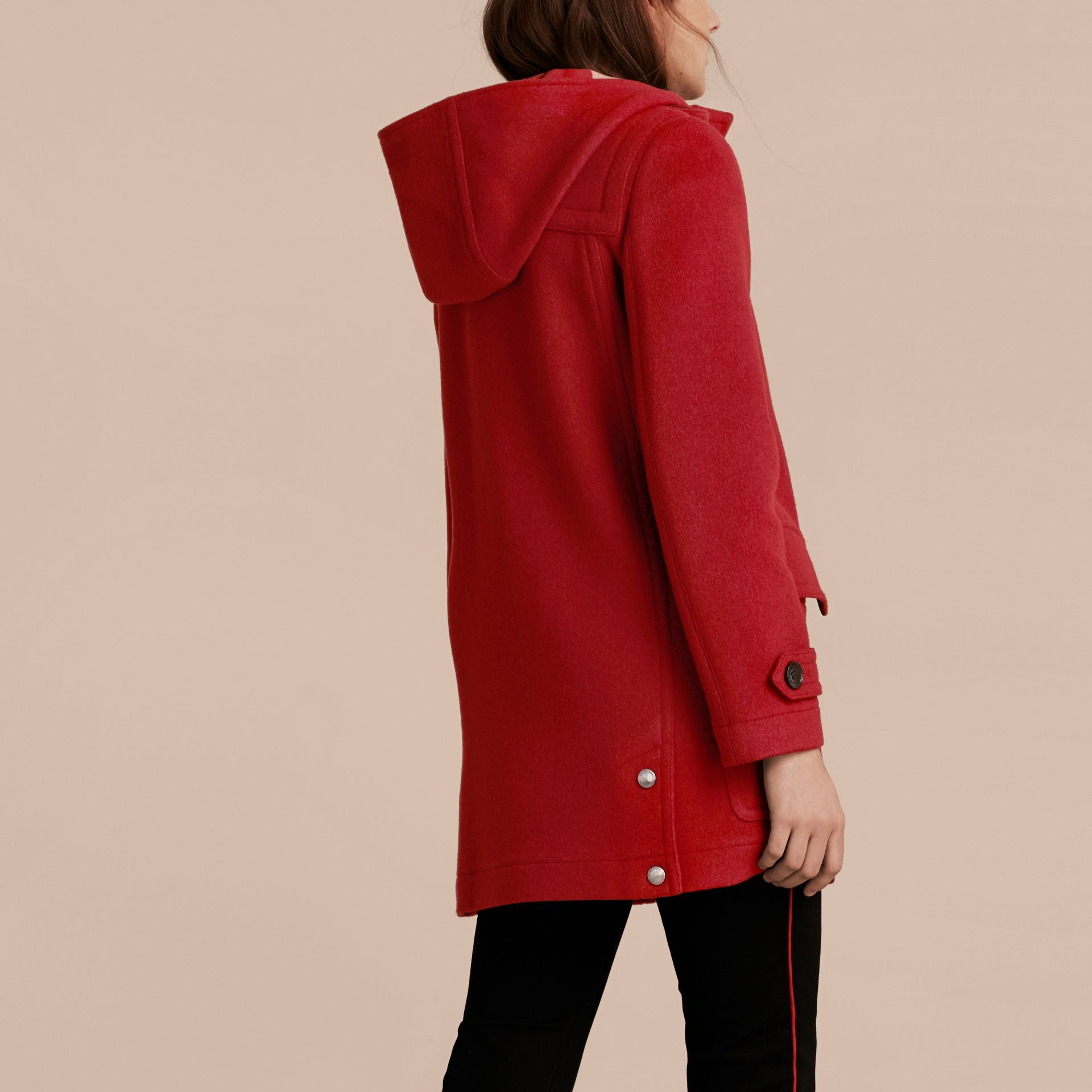 Windsor red Wool Duffle Coat with Check and Hearts Lining Windsor Red - gallery image 3