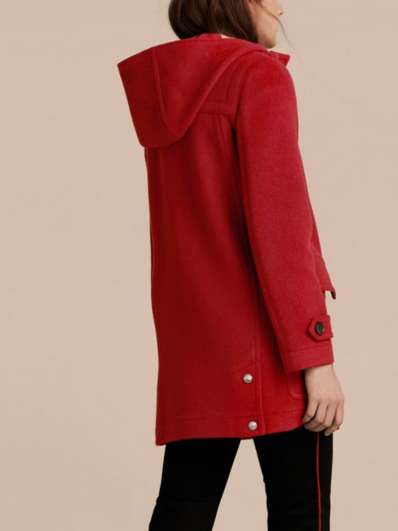 Windsor red Wool Duffle Coat with Check and Hearts Lining Windsor Red - cell image 2