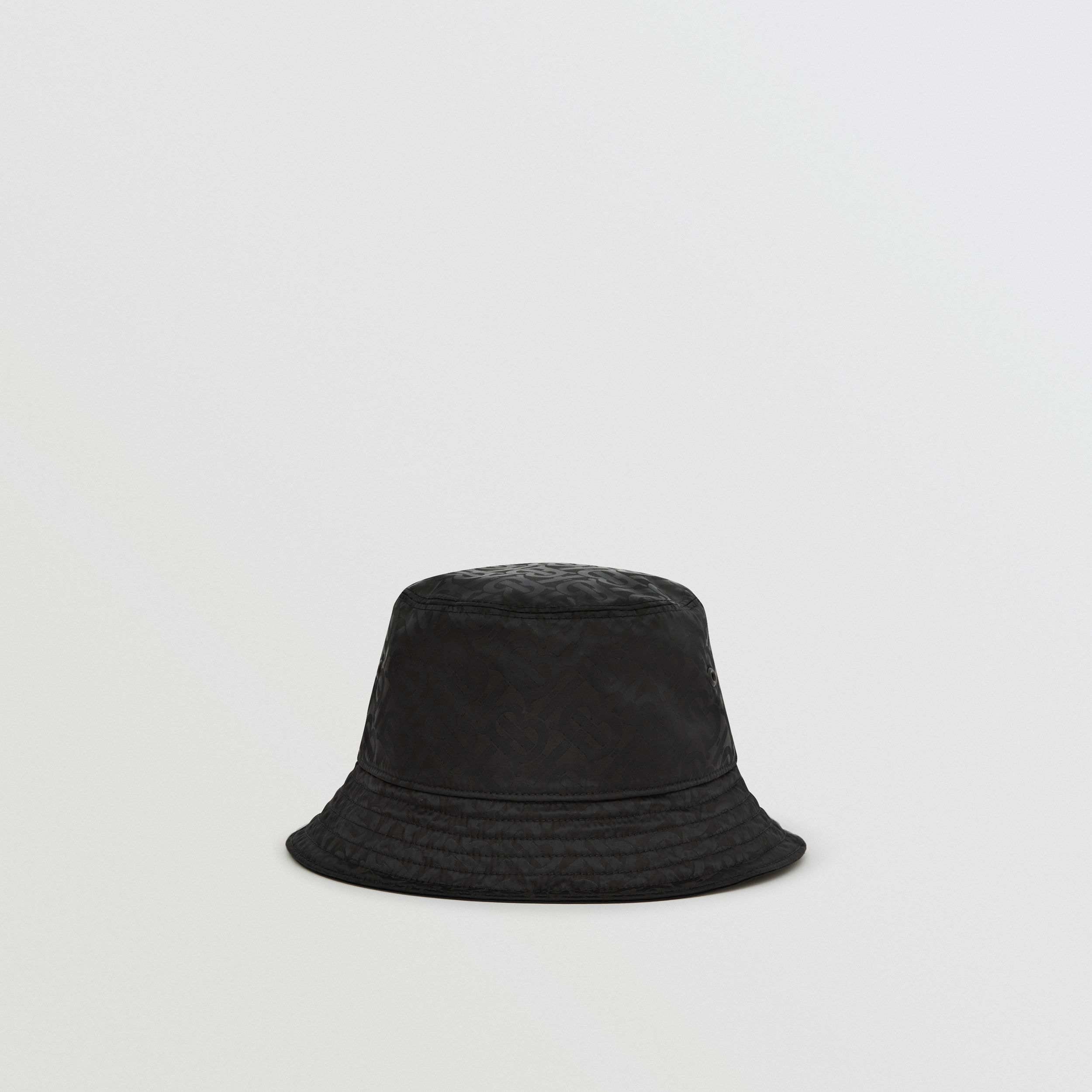 Monogram Jacquard Bucket Hat in Black | Burberry United Kingdom - 1