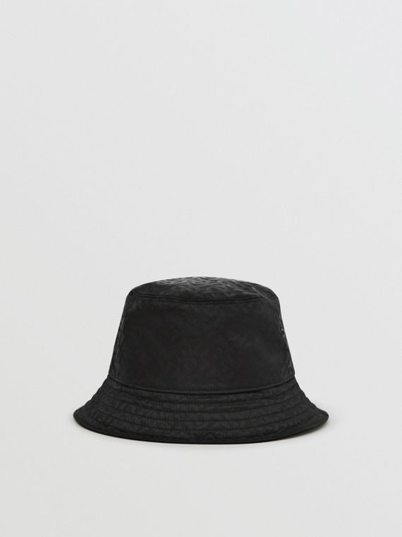 Monogram Jacquard Bucket Hat in Black
