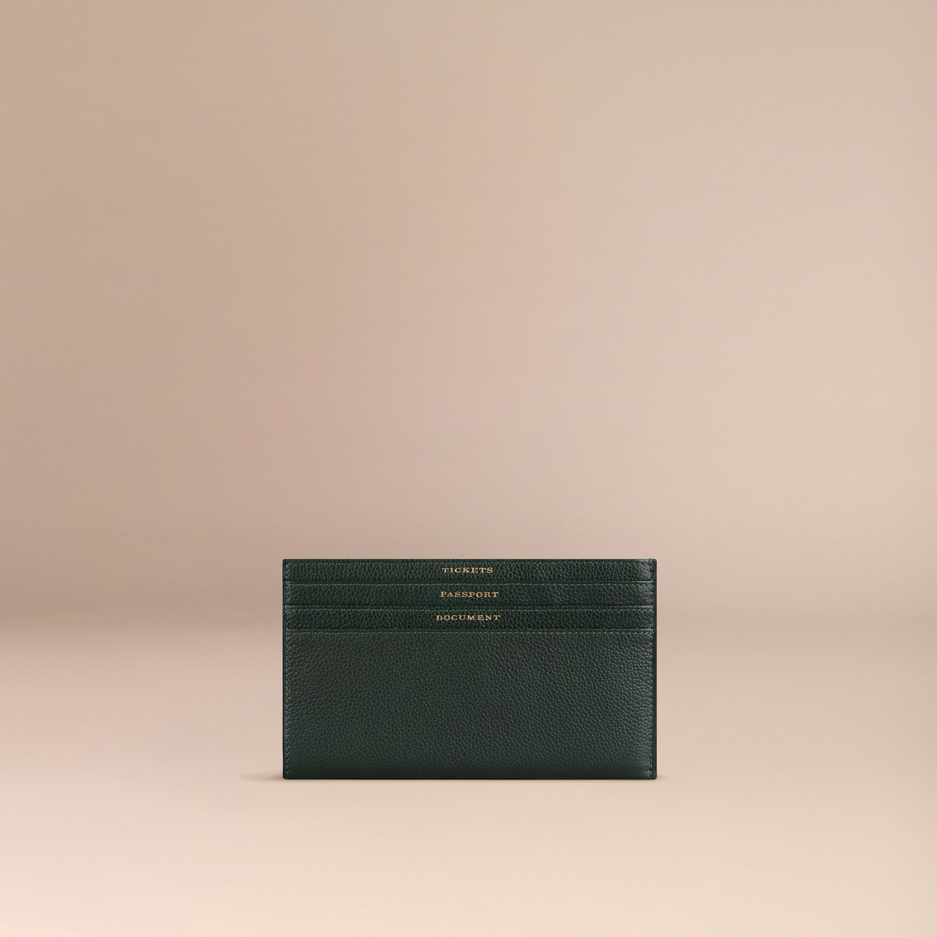Grainy Leather Travel Case in Dark Forest Green - gallery image 1
