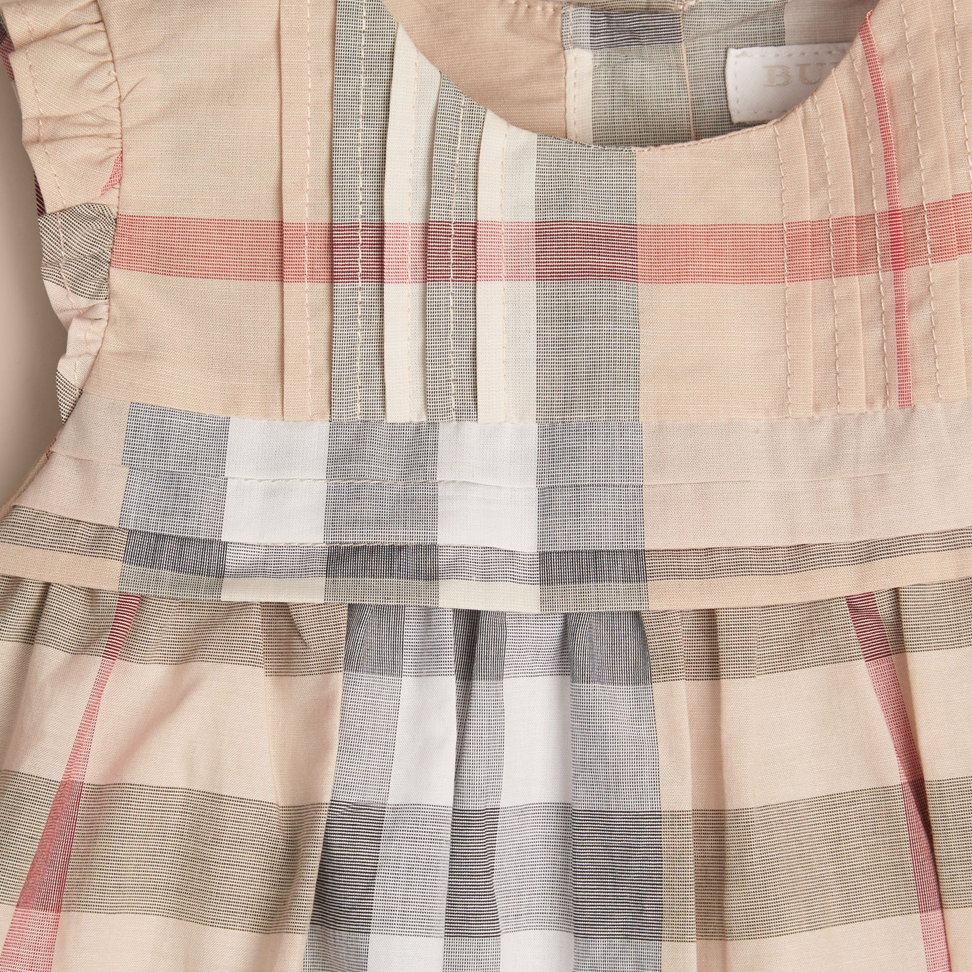 Pale stone Check Cotton Dress and Bloomers - gallery image 2