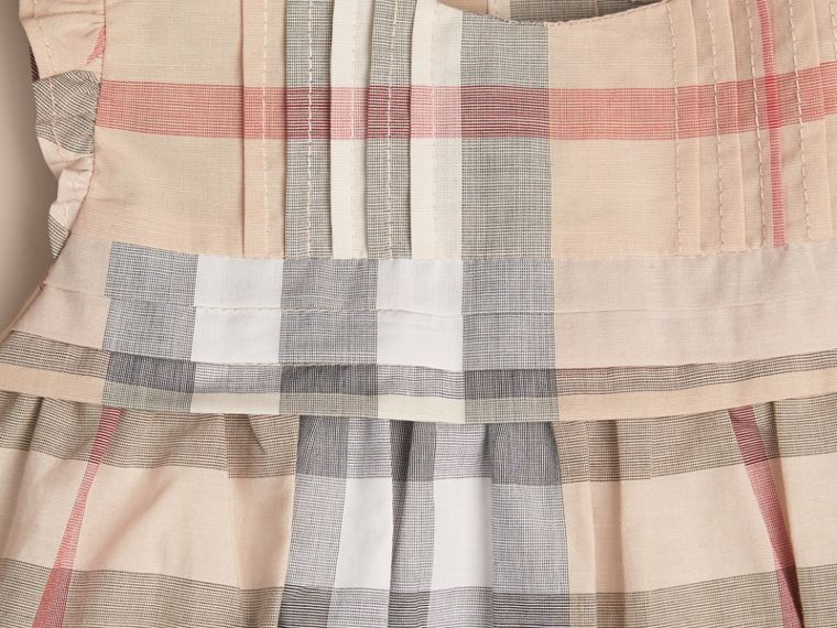 Pale stone Check Cotton Dress and Bloomers - cell image 1
