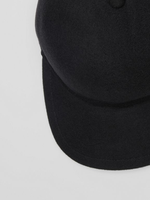 Felted Wool Baseball Cap in Black | Burberry - cell image 1