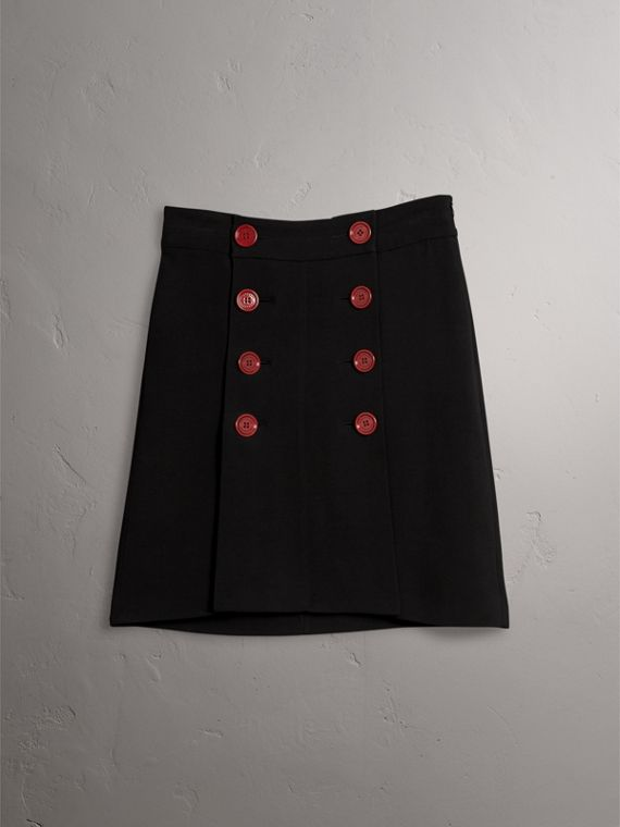 Resin Button Double-breasted Tailored Skirt - Women | Burberry - cell image 3