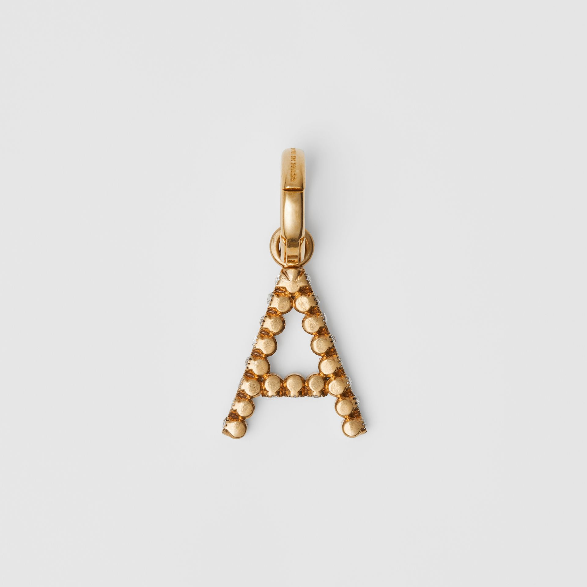 Crystal 'A' Alphabet Charm - Women | Burberry United States - gallery image 3