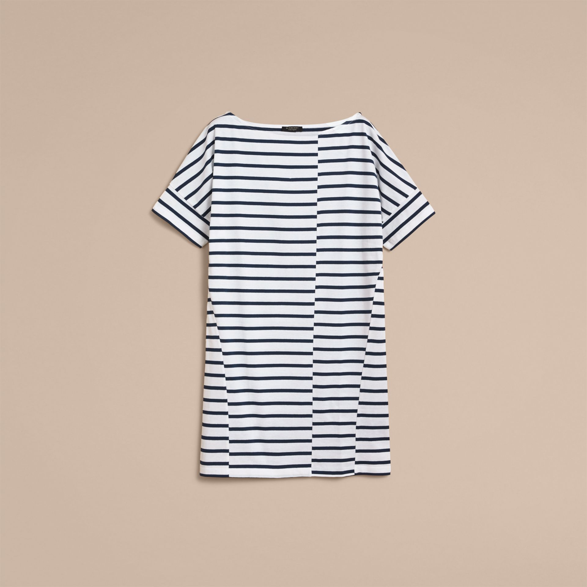 Short-sleeve Striped Jersey Dress - Women | Burberry - gallery image 4
