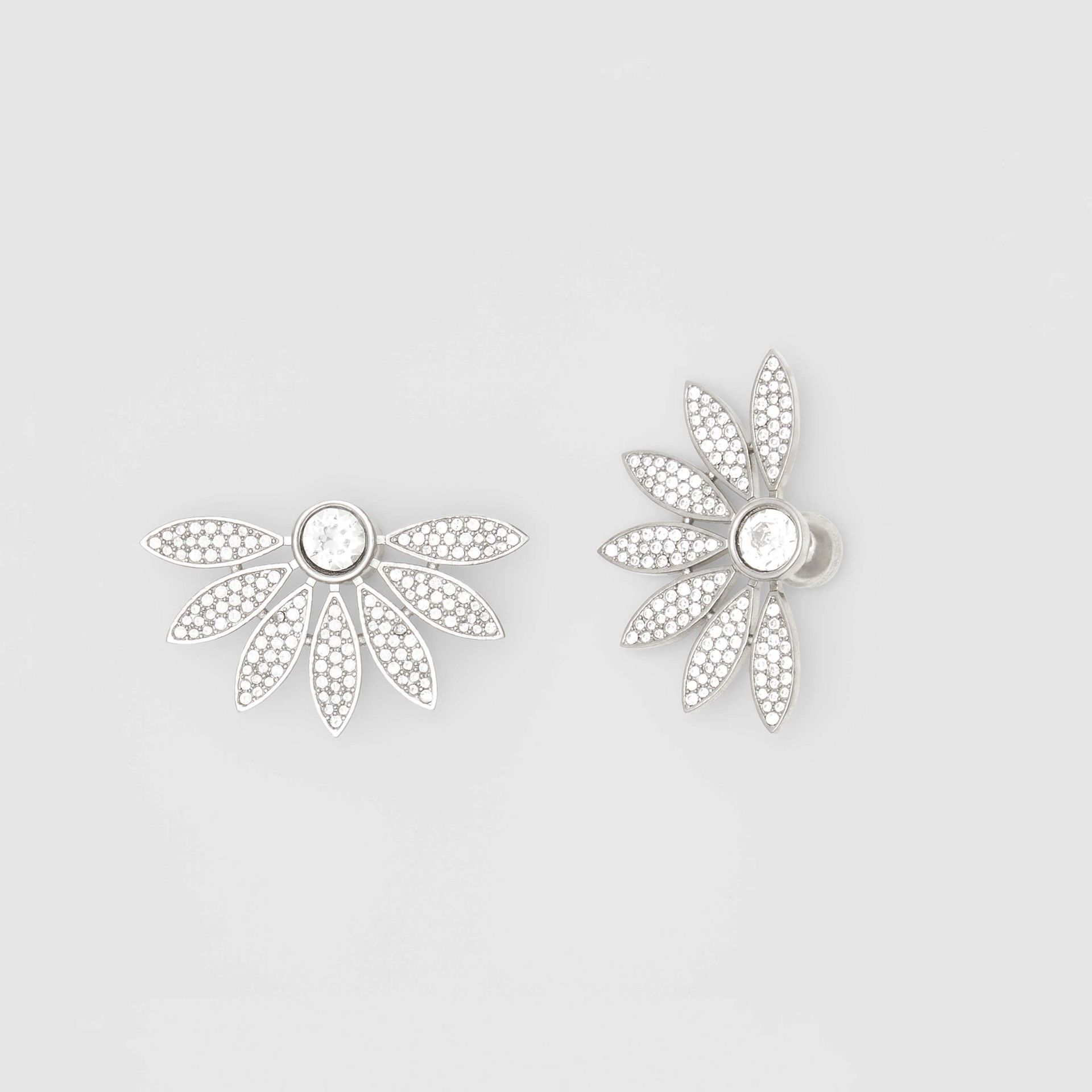 Crystal Half-daisy Stud Earrings - Women | Burberry - gallery image 3