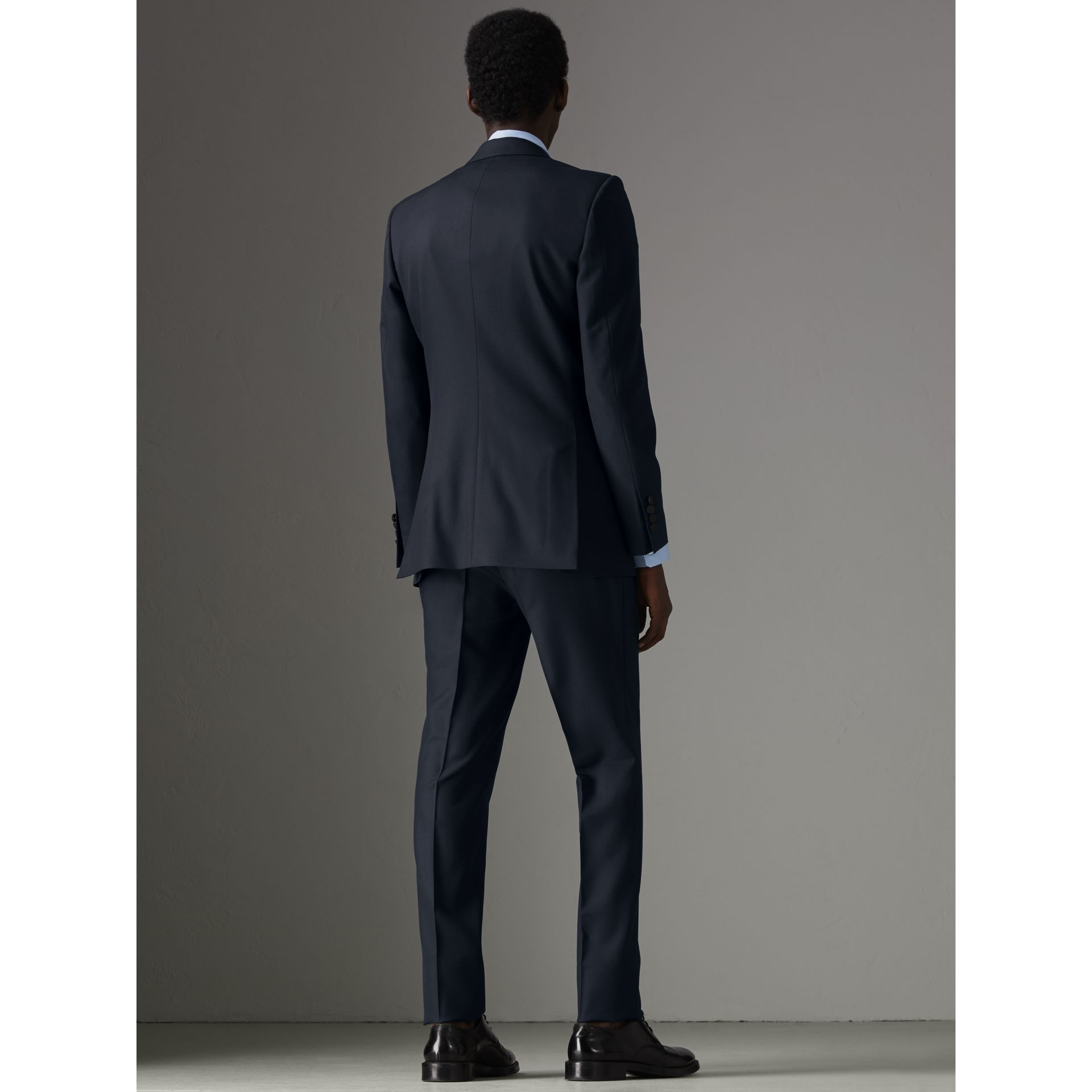 Slim Fit Wool Half-canvas Tuxedo in Navy - Men | Burberry Singapore - gallery image 2