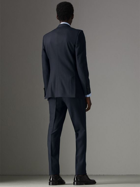 Slim Fit Wool Half-canvas Tuxedo in Navy - Men | Burberry Singapore - cell image 2