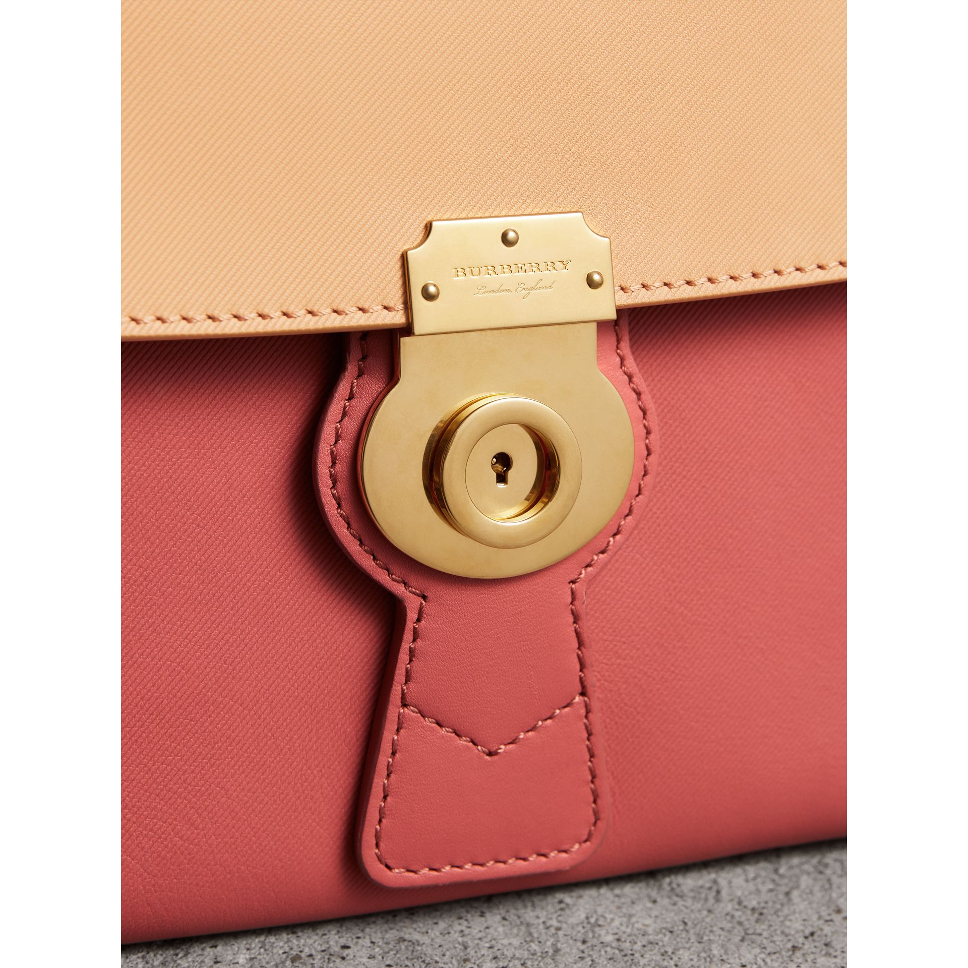 The Medium DK88 Top Handle Bag in Blossom Pink/pale Clementine - Women | Burberry Singapore - gallery image 1