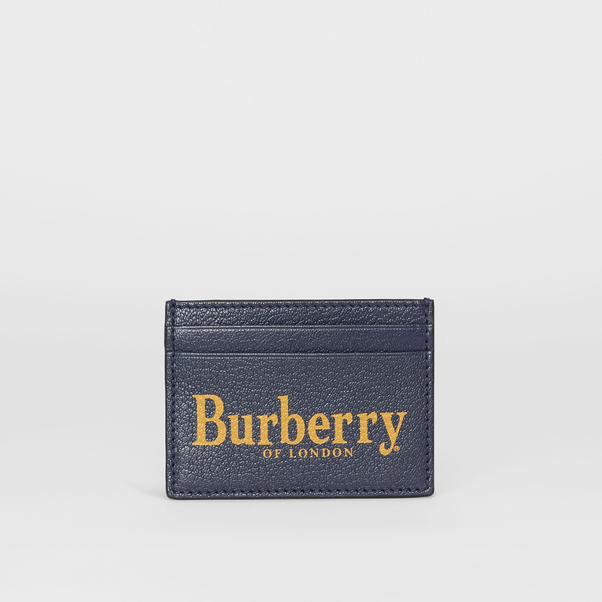 Logo Print Leather Card Case in Storm Blue/antique Green - Men | Burberry - gallery image 2