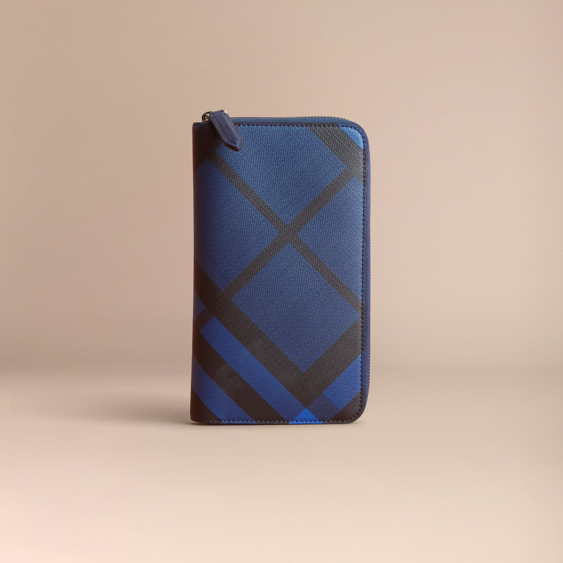 London Check Ziparound Wallet Bright Lapis - gallery image 6