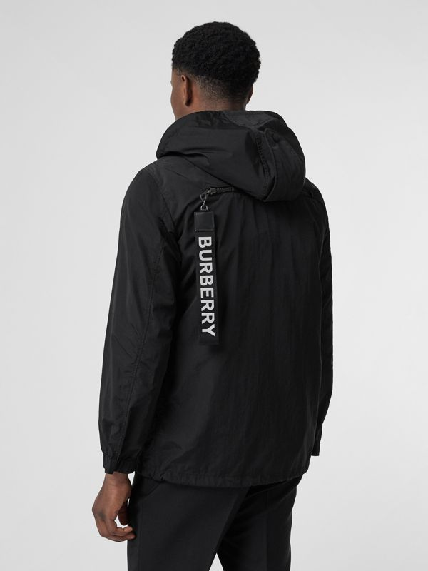 Packaway Lightweight Hooded Jacket in Black - Men | Burberry Canada - cell image 2