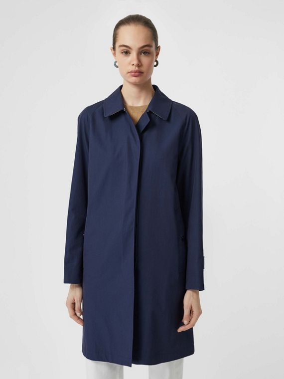 The Camden Car Coat in Dark Sapphire