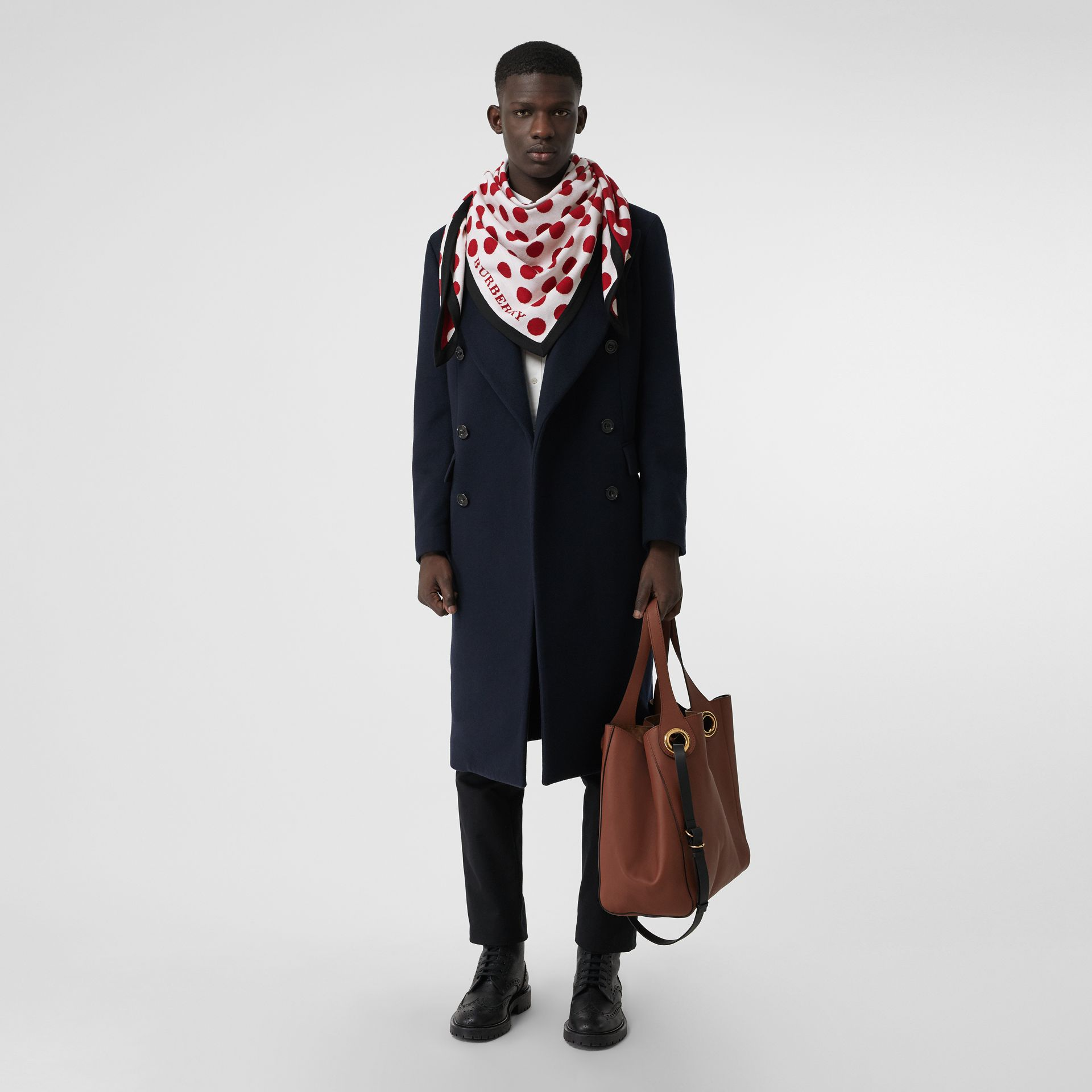The Burberry Bandana in misto lana a pois (Multicolore) | Burberry - immagine della galleria 3
