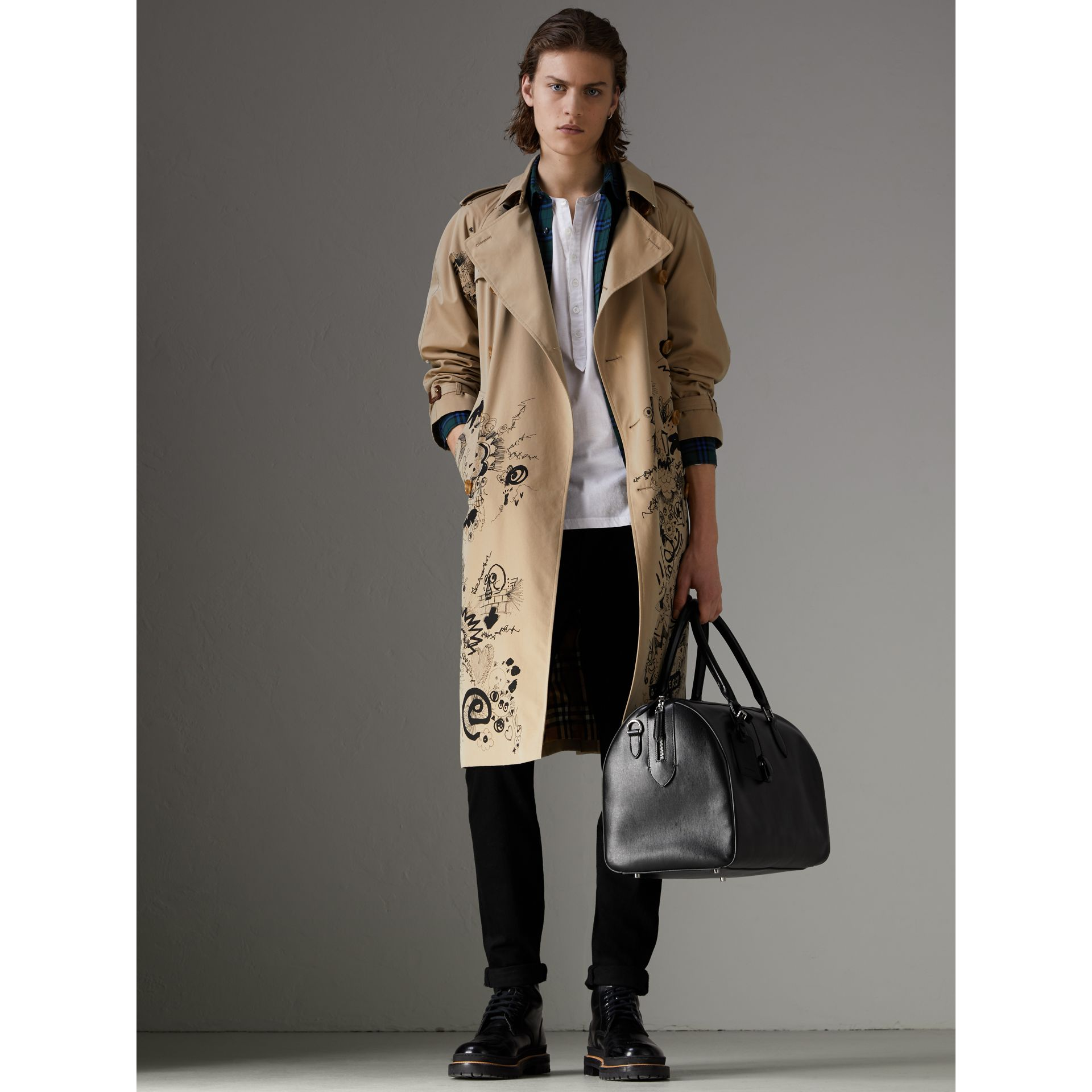Fourre-tout en cuir London (Noir) | Burberry - photo de la galerie 2