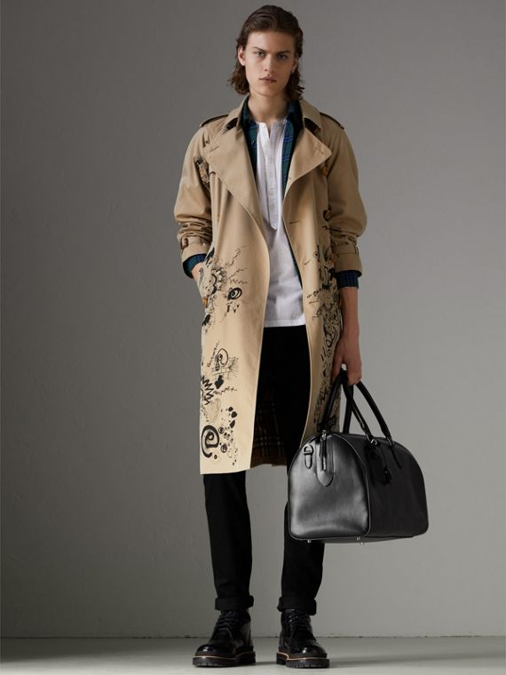 London 皮革手提包 (黑色) | Burberry - cell image 2