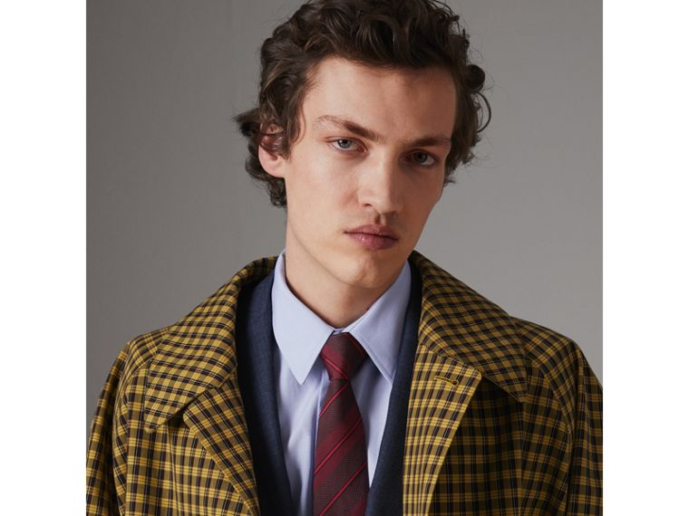 Modern Cut Striped Silk Tie in Deep Claret - Men | Burberry Singapore - cell image 2