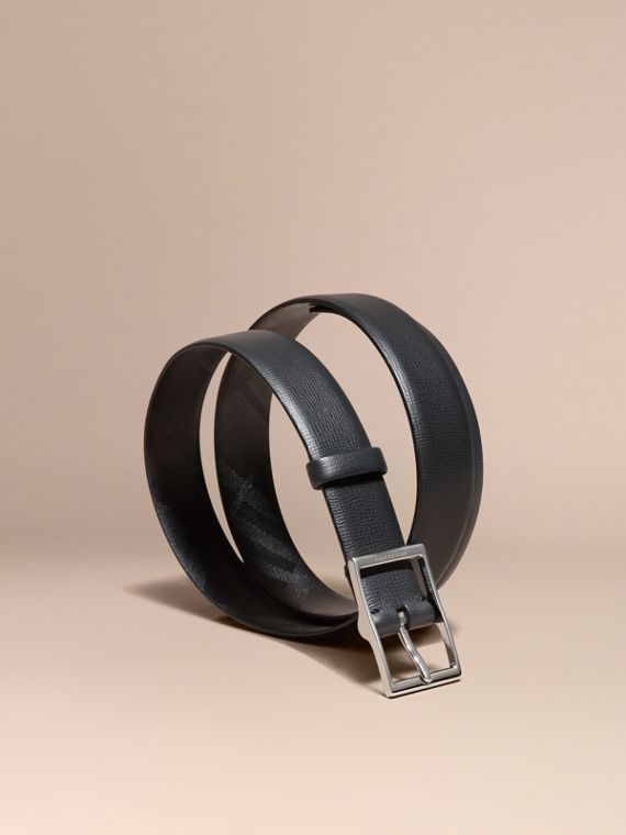 London Leather Belt Black