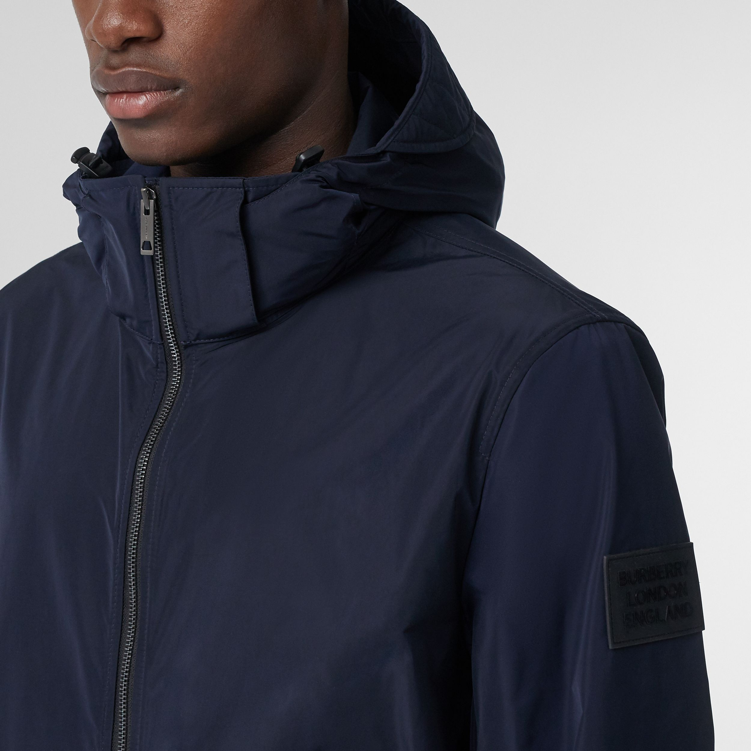 Packaway Hood Shape-memory Taffeta Jacket in Ink - Men | Burberry - 2