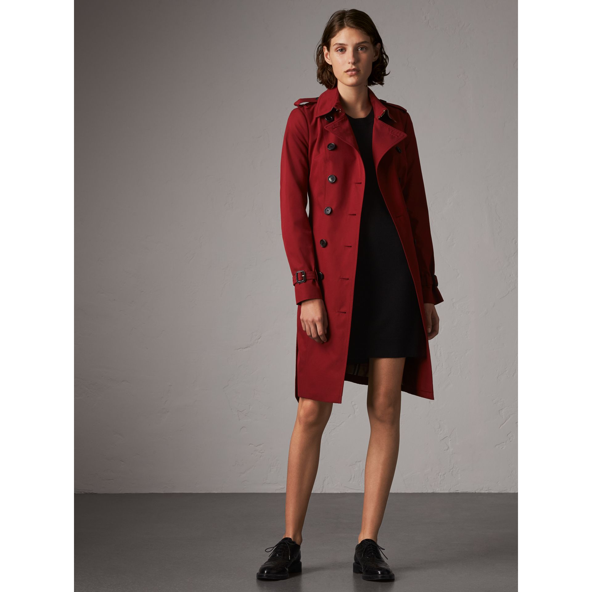 The Sandringham  – Long Trench Coat in Parade Red - Women | Burberry - gallery image 1